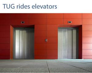TUG rides elevators